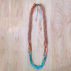 Aqua Ombre Braided Necklace design inspiration on Fab.