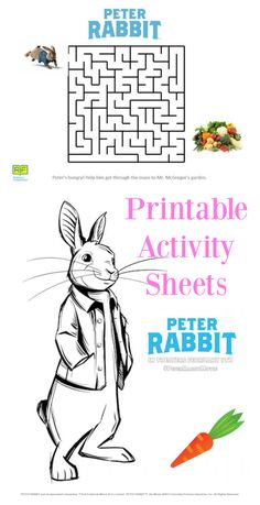 Here Is The Happy Meal Peter Rabbit Movie Coloring Page