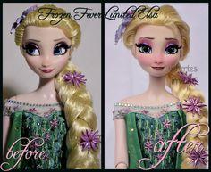repainted ooak frozen fever limited edition elsa. by verirrtesIrrlicht