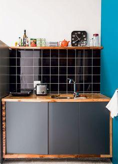 Como usar azulejos em partes da cozinha.