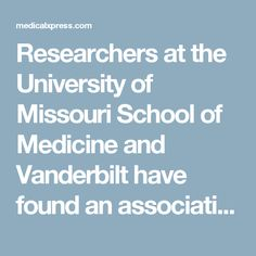 Researchers at the University of Missouri School of Medicine and  Vanderbilt have found an association between stress and gastrointestinal issues in autism.