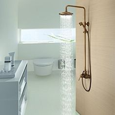 Lightinthebox® Sprinkle Antique Brass Tub Shower Faucet with 8 inch Shower Head + Hand Shower