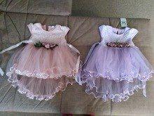Tienda Online Flor bebé recién nacido vestido 2018 nuevo verano Cute Bebé  Ropa malla sólida ropa infantil 1 año cumpleaños vestido  72140b6b715c