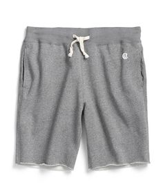 Cut Off Gym Shorts in Salt and Pepper