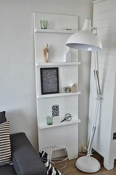 This shelf! Looks easy to make and would be an easy, transportable art/card display that adds lovely height.