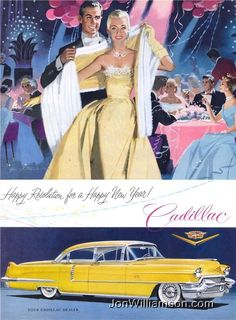 "Cadillac, ""Happy Resolution for a Happy New Year!"", 1956"