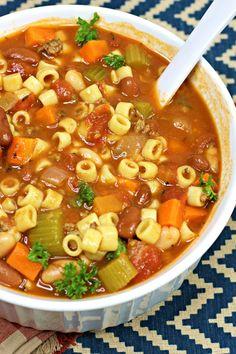 The Ultimate Pasta e Fagioli Soup! The Ultimate Pasta e Fagioli Soup! Pasta Recipes, Cooking Recipes, Healthy Recipes, Recipe Pasta, Healthy Soup, Beef Broth Soup Recipes, Pasta E Fagioli Soup, Pasta Soup, Italian Soup