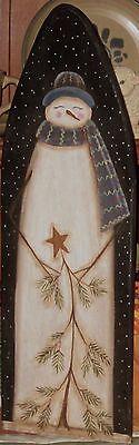 Primitive HP Folk Art Long Snowmen Stick Tree Winter Stretcher | eBay