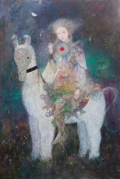 Nonchalant — elmayordelosdiez: Daria Petrilli, Walking with a. Kunst Inspo, Art Inspo, Art And Illustration, Oriental, Fantasy Kunst, Fantasy Art, Yellena James, Japanese Art Modern, Figurative Kunst