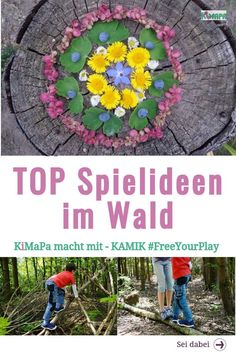 TOP game ideas in the forest with children - KiMaPa Children love a trip to the forest. It offers an excellent gaming backdrop in every season. Child Love, Happy People, Birthday Invitations, Most Beautiful Pictures, Children, Kids, Forest School, Backdrops, Seasons