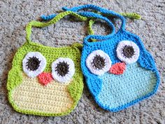 owl bibs by caseyplusthree, via Flickr