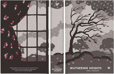 Textile artist Celia Birtwell designed a fantastic cover for Wuthering Heights