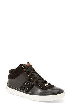 Jimmy Choo 'Bells' Leather & Suede Sneaker (Women) available at #Nordstrom