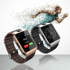 2017 Smart Watch for iPhone IOS Android Support SD SIM Card Reloj Inteligente Bluetooth Life Waterproof Smartwatch Wearable Wearable Device, Wearable Technology, Electronics Projects, Consumer Electronics, Sport Watches, Watches For Men, Apple Watch, Android Watch, Android Phones
