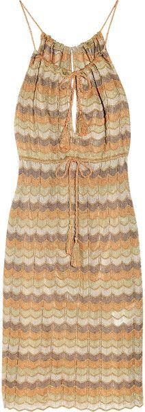 Missoni Cap Sleeve Crochet Dress in Orange | Lyst