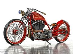 John Shipley of Hoosier Daddy Choppers brought their Fire House Racer, a 2013 Custom Board Tracker, to Indy and just missed out on winning the Modified Harley class.