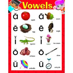 VOWELS BLOCKSTARS LEARNING CHART                                                                                                                                                     More
