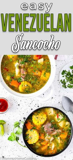 10 Most Misleading Foods That We Imagined Were Being Nutritious! This Delicious And Easy To Make Venezuelan Sancocho Is Filled With Vegetables, Starches And Hearty Beef Perfect Sunday Dish To Enjoy With Family And Friends. Beef Recipes, Soup Recipes, Healthy Recipes, Easy Recipes, 9 Bean Soup Recipe, Venezuelan Food, Venezuelan Recipes, My Favorite Food, Recipes