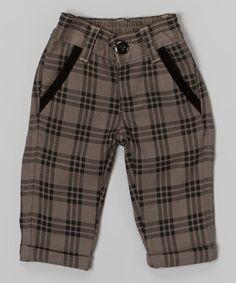Gray Plaid Jaxson Pants - Infant | zulily
