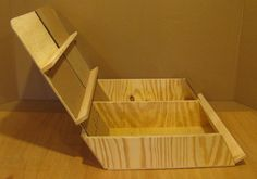 Craft show display bin with angled viewing