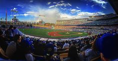 THINK BLUE: my first ever dodger's game. and yes that's a rainbow over the field. #bucketlist #baseball thanks @bigabrom for a rad first trip. by kathysue17