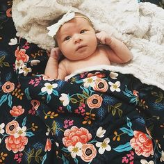 So snuggly! @mrs.penta shop Birch Floral Blankets Crib Sheets & Changing Pad Covers at spearmintLOVE.com