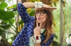 #marniathm polka dot jacket and bangles