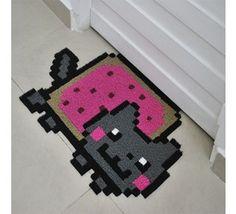 Capacho - Nyan Cat - Capachos - Decoração - Casa e Decoração