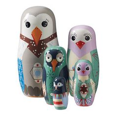 Babuschka-Puppen Vogelfamilie jetzt auf Fab. #superliving #superlove