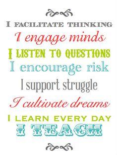 Education  -  Motivation  - Every teacher needs this in their classroom... to remind them of what they truly do. Pedagogia  - Motivazione -  Ognuno di noi può ricordare cosa significa insegnare leggendo queste poche parole.