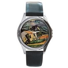 Paul Cezanne House in the Country Silver Watch Black Leather #Citizen #Fashion