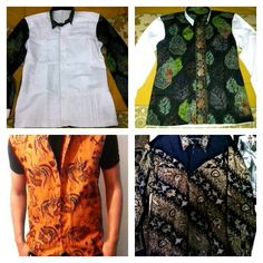 Shirt #batik #kudus Vest #batik #sasirangan