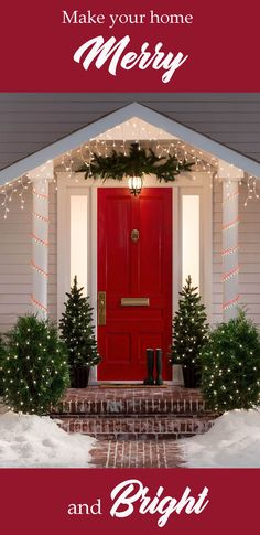Make your house Merry and Bright with all the best outdoor decor!  The porch that everyone will envy. #christmas #outdoor #porch #ad