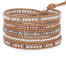 Bronze Mix Crystal Wrap Bracelet