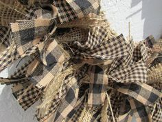 20% OFF Primitive Teastained Black and Tan by RagWreathBoutique