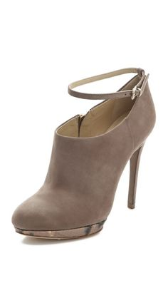 B Brian Atwood Fruitera Silver Booties