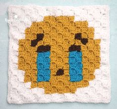 Sobbing Emoji is the second square in my C2C Crochet Emoji Graphgan! If you missed square #1 you can find it HERE: Heart Eyes I am creating a 9-square corner-to-corner (C2C) blanket just like my Christmas Character Afghan but smaller. The squares are 15×15 pixels (where as my Christmas characters were 25×25) and each one has a different emoji …