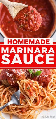 A super simple, yet flavorful homemade marinara sauce that is perfect served over pasta, or mixed into soups and meatloaf! Homemade Spaghetti Sauce, Homemade Marinara, Homemade Sauce, Easy Homemade Recipes, Easy Delicious Recipes, Tasty, Healthy Recipes, Chili Recipes, Sauce Recipes