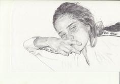 untitled : Collaboration with Naomi Wong pen on paper 2016 Collaboration with Naomi Wong pen on paper 2016 Sketchbook Inspiration, Art Sketchbook, Life Drawing, Painting & Drawing, Portfolio D'art, L'art Du Portrait, Portraits, Beautiful Sketches, Art Hoe