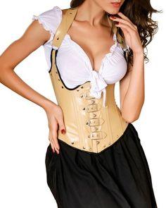 Burlesque-Boutique Women's Leather Buckles Underbust Coffee Corset Top-Large Burlesque Boutique http://www.amazon.com/dp/B00FSL3ZYE/ref=cm_sw_r_pi_dp_VMN.tb1GC70SR