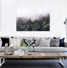 3D Foggy Forest 8656343Wall Stickers Vinyl Wall Murals Print Ajstore Us Lemon