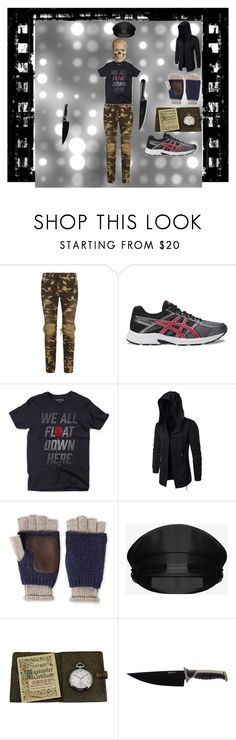 """mystery man"" by mhdinsmore-lfo on Polyvore featuring Balmain, Asics, Ben Sherman, Yves Saint Laurent, Gruen, BergHOFF, Chicago Cutlery, men's fashion and menswear"