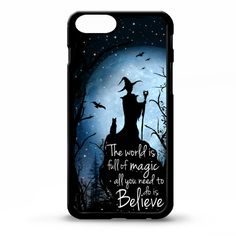 Witch sorceress magic black cat full moon quote art cover for iphone 4 4s 5 5s 6 6 plus case Sony xperia Z3 HTC Galaxy s5 phone case