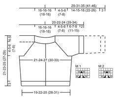 """Lille Mille / DROPS Extra 0-684 - DROPS Raglánový svetřík s krajkovým kruhovým sedlem z příze """"Merino Extra Fine"""". - Free pattern by DROPS Design"""