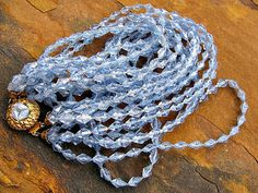 Vintage MultiStrand Necklace Blue Plastic by ToadSuckTreasures, $25.00