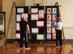 The Craft Junkie: Student Art Part 5: Setting Up An Art Show