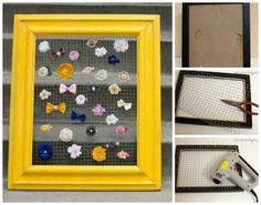 Wire Frame | 25 Clever DIY Ways To Keep Your Jewelry Organized