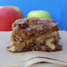 Good 'ol Fashioned Apple Brownies ~ gooey, sticky, messy, and cinnamony. They're the perfect for fall | Rumbly in my Tumbly