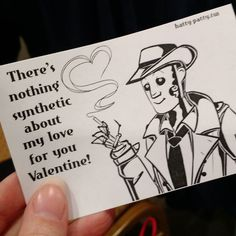Someone cosplaying as Nick Valentine handed this to me... Day = made #cosplaystudio