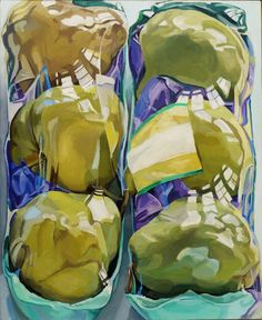 View Untitled Two Packages of Pears by Janet Fish on artnet. Browse more artworks Janet Fish from DC Moore Gallery. Still Life Drawing, Painting Still Life, Juan Sanchez Cotan, Still Life Artists, Plastic Art, A Level Art, Pastel, Photorealism, Hyperrealism